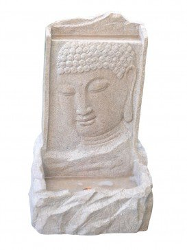 Medium Sandstone Buddha on Wall Water Feature