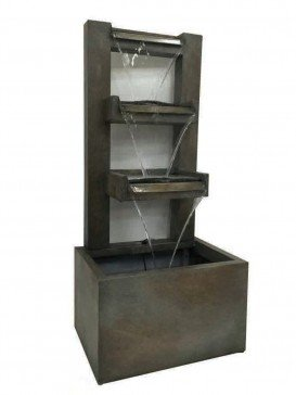 Bergamo Zinc Metal Water Feature