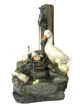Duck Family at Tap Water Feature By Aqua Creations