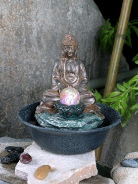Buddha With Crystal Ball Indoor Water Feature