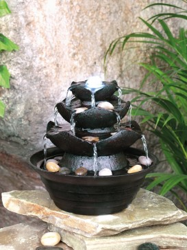 Three Tier Multi Fall Table Top Indoor Water Feature