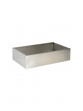 800mm x 500mm Rectangular Stainless Steel Base