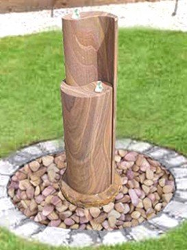 Rainbow Sandstone Yin Yang Water Feature