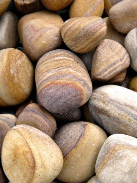 20kg Rainbow Sandstone Tumbled Pebbles 100mm - 150mm