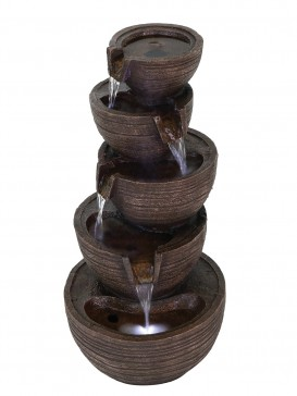 Solar Brown Bowls Water Feature