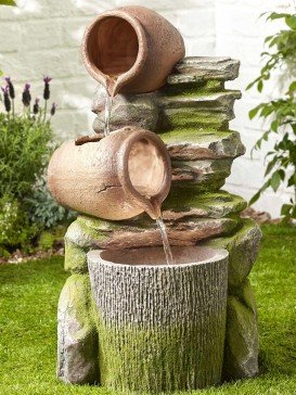 Spilling Pot Wall Water Feature