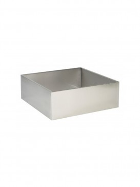 600mm x 600mm x 200mm Square Stainless Steel Base