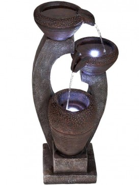 Solar U Shaped Bowls Water Feature by Aqua Creations
