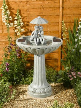 Smart Solar Umbrella Fountain Garden Water Feature