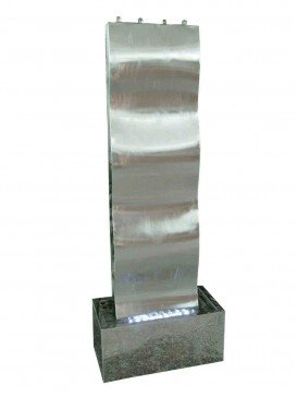 Naples Stainless Steel Water Feature by Aqua Creations