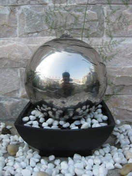 Auckland Stainless Steel Water Feature by Aqua Creations