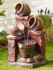 Brick & Bowl Spills Water Feature